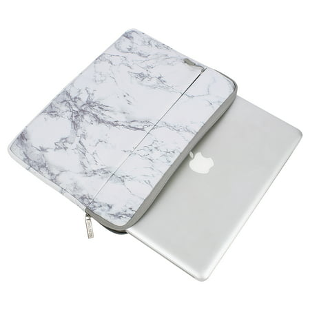 Mosiso Laptop Sleeve Bag 15-15.6 Inch MacBook Pro Ultrabook Notebook Computer Canvas Marble Pattern Protective Tablet Carrying Case -