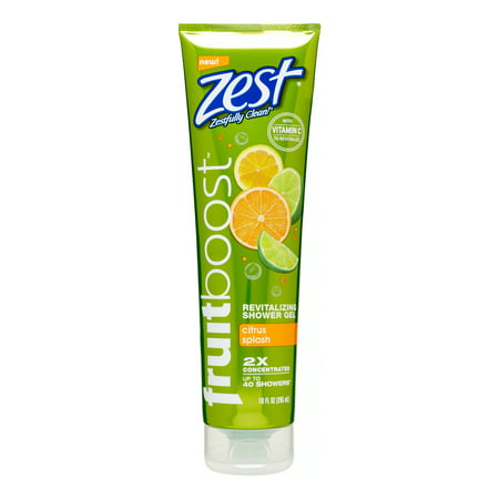 Zest Fruitboost Shower Gel, Citrus Splash, 10 Oz