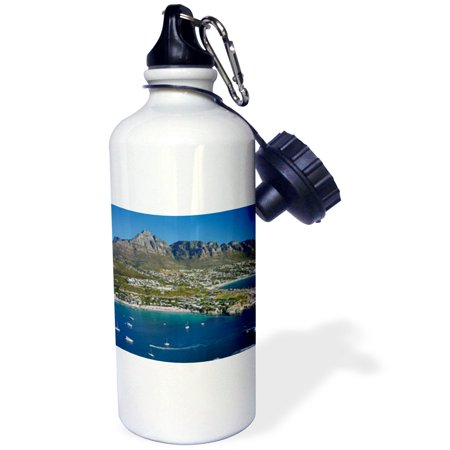 3dRose Clifton Beach and Camps Bay, Table Mountain, Cape Town, South Africa., Sports Water Bottle, 21oz