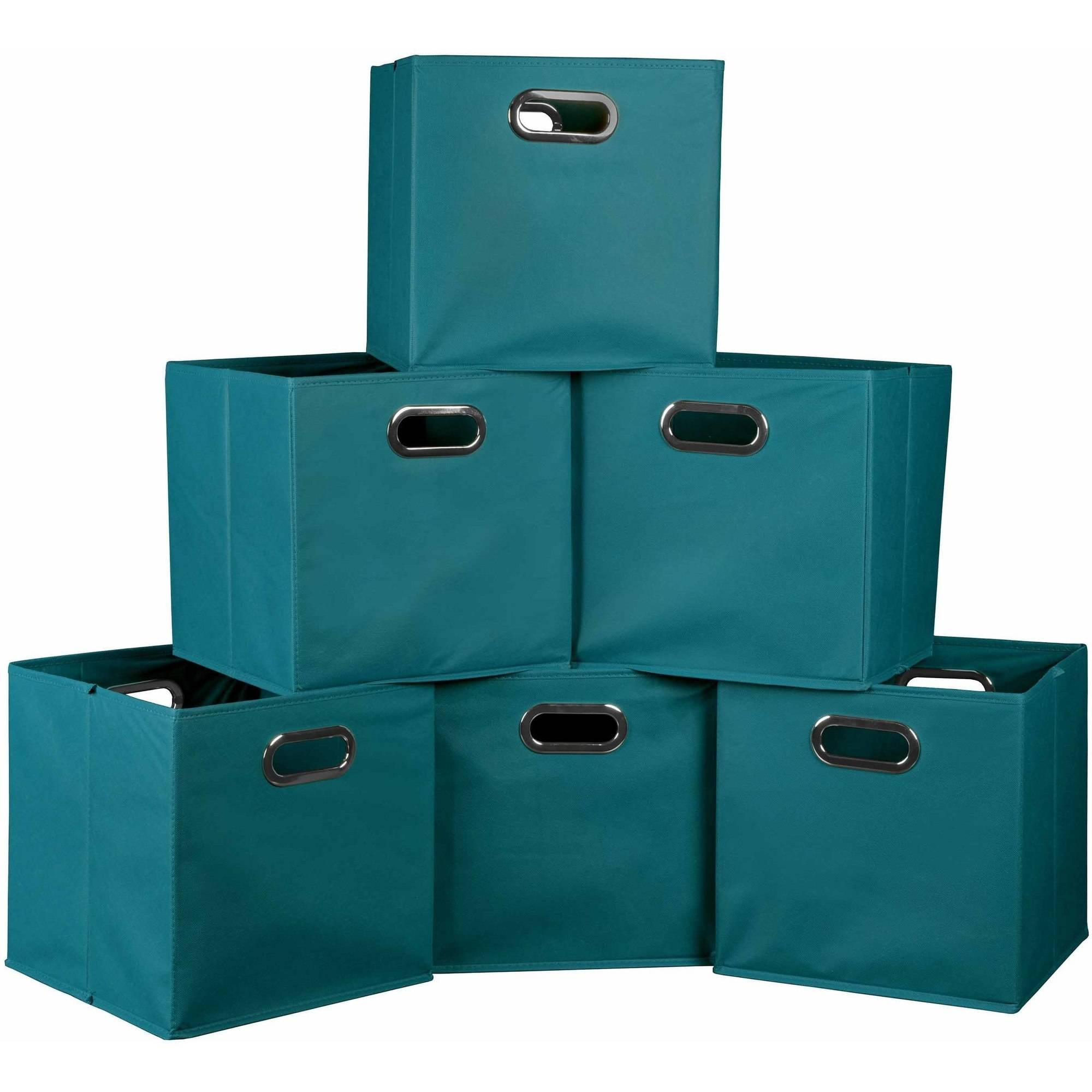 Niche Cubo Foldable Fabric Storage Bins, Set Of 6, Multiple Colors