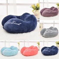 U Shaped Travel Pillow Soft Foam Neck Pillow Car Airplane Head Rest Support Pad