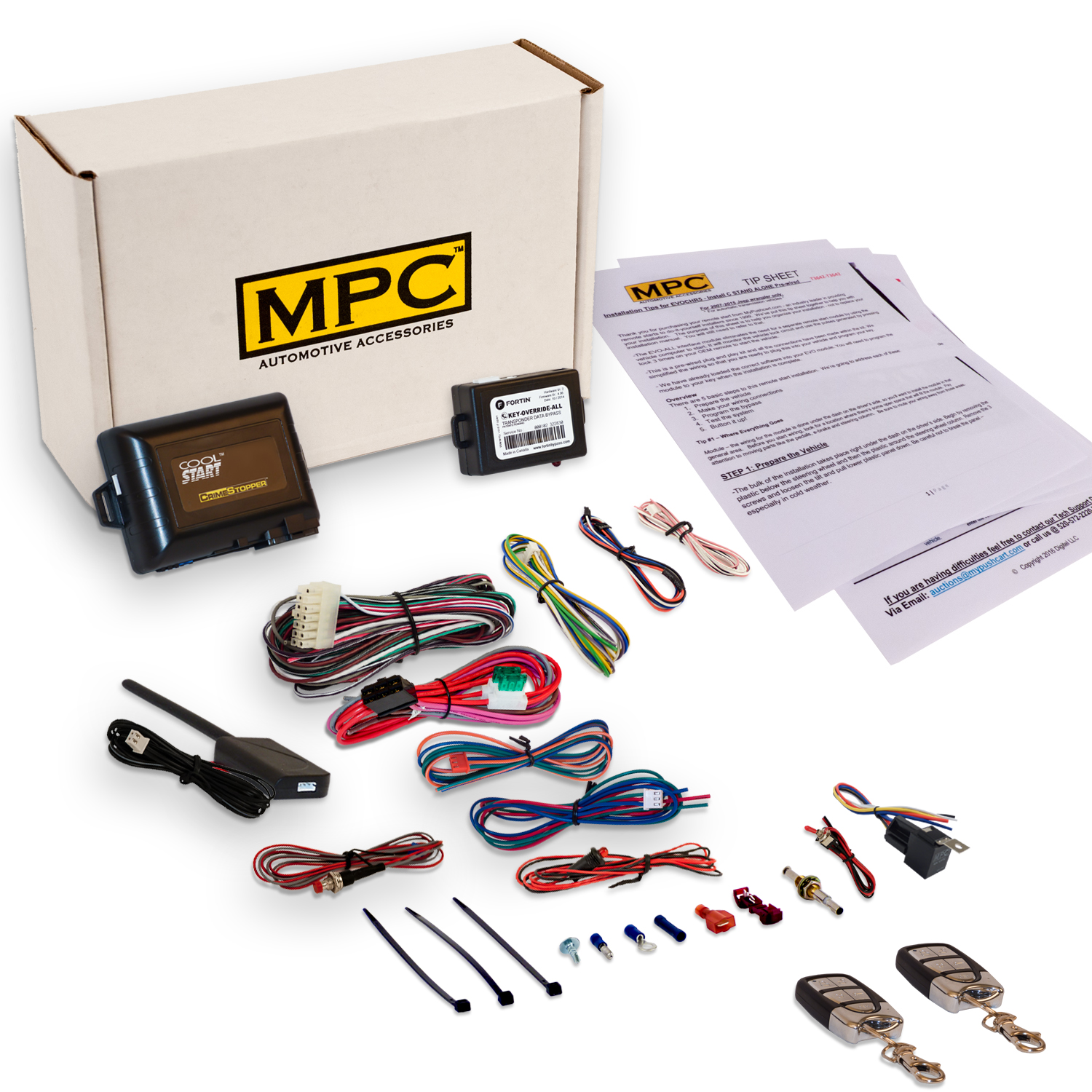 MPC Complete Remote Start/Keyless Entry Kit For 2006-2010 Mazda 5 - Includes Bypass