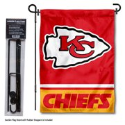 KC Chiefs Garden Flag and Flag Holder Set