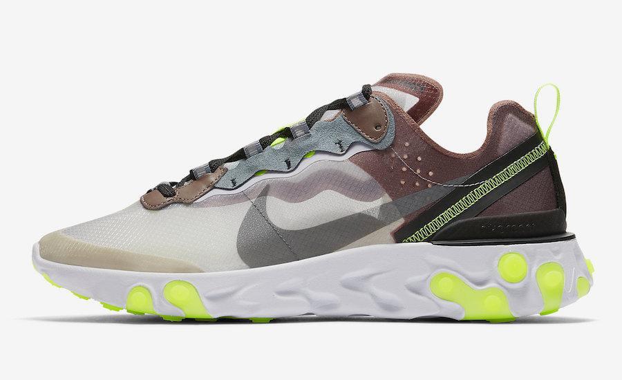 Mens Nike React Element 87 Desert Sand