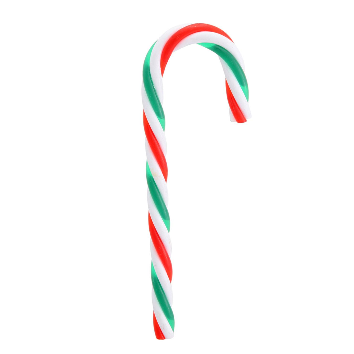 pack of 12 red green and white striped candy cane christmas ornaments 575 walmartcom - Candy Cane Christmas
