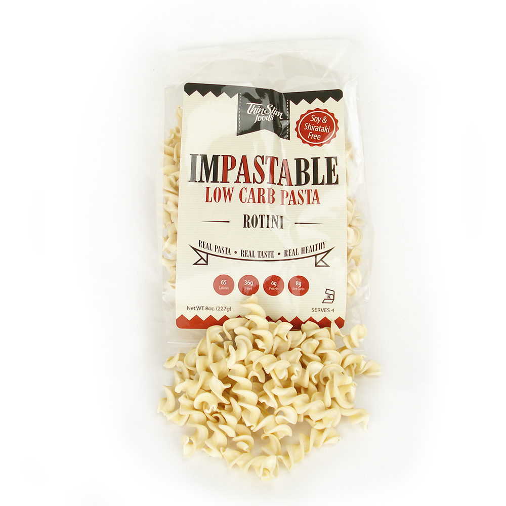 ThinSlim Foods Impastable Low Carb Pasta Rotini, 6pack