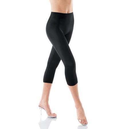 fa2f709ba Spanx - Spanx 094 Hide   Sleek Capri Smoother Shapewear leggings Black S -  Walmart.com