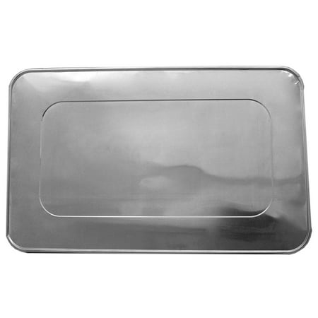 Durable Packaging Aluminum Foil Lids for Aluminum Steam Table Pans, Fits Full-Size Pans (1 Bags of 10) by A World of -