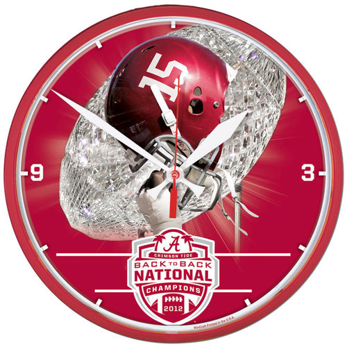 NCAA - Alabama Crimson Tide 2012 BCS National Champions Round Clock