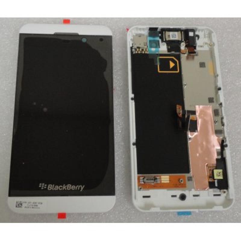 Blackberry Z10 White LCD Display Screen + Touch Panel Digitizer With inside Frame Replacement Part Version Lcd-46537-001/111
