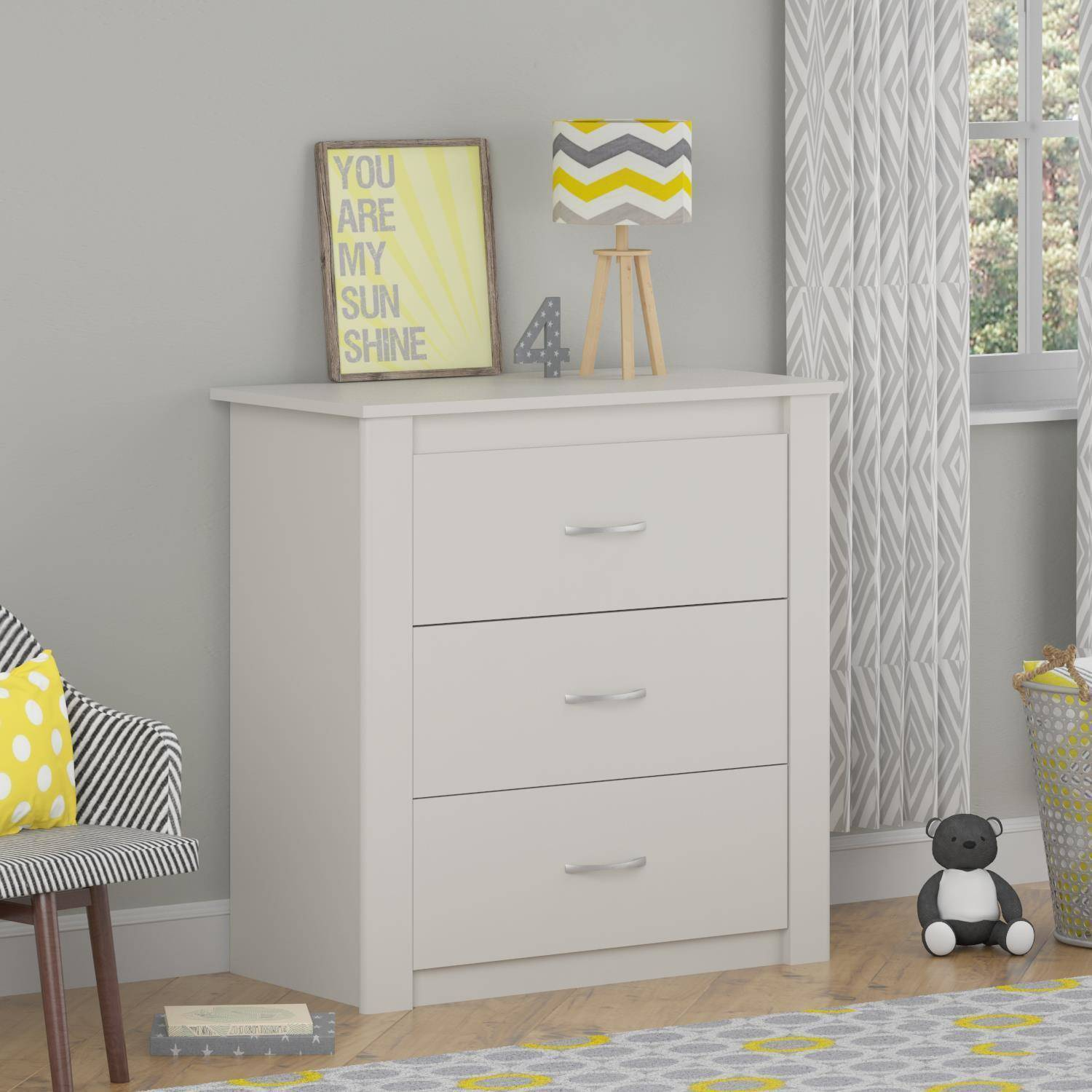 Cosco Riley 3-Drawer Dresser, White