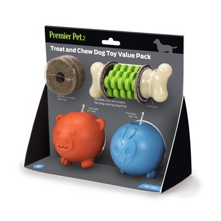 (Premier Pet Dog Toys Treat and Chew Value Pack Dog)