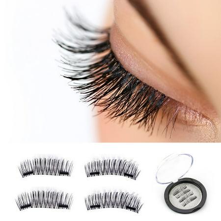 e09dc7b5dbf Magnetic eyelashes, New Dual Magnetic False Eyelashes - 1 Pairs (4 Pieces)  Ultra