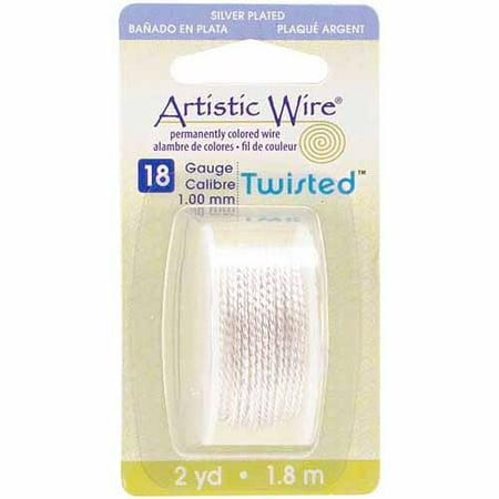 Beadalon Artistic Wire Twisted Round, Non-Tarnish Silver Non Tarnish Silver Artistic Wire