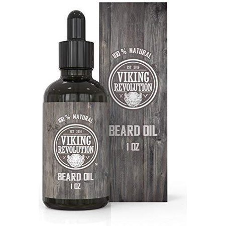 BEST DEAL Beard Oil Conditioner- All Natural Unscented Organic Argan & Jojoba Oils - Promotes Beard Growth - Softens & Strengthens Beards and Mustaches for Men (Unscented, 1