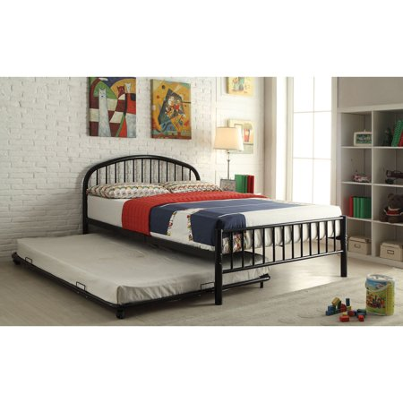 Cailyn Full Bed With Trundle Black Walmart Com