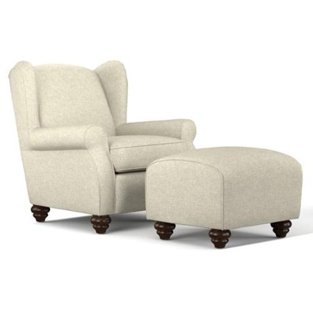 Handy Living Hana Barley Tan Linen Wingback Chair And