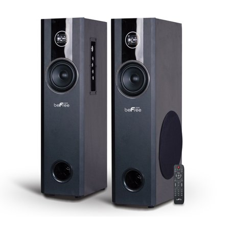 beFree Sound 2.1 Channel Powered Bluetooth Tower Speakers – Pair