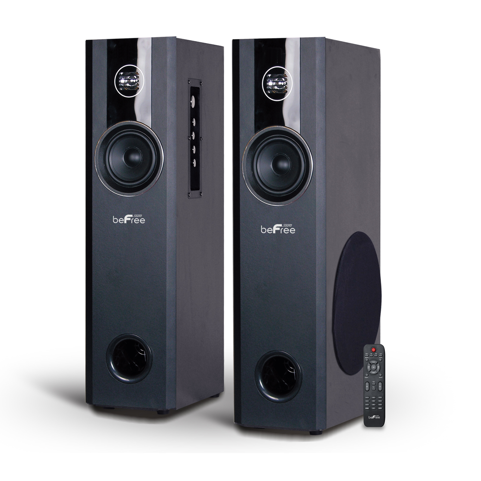 beFree Sound 2.1 Channel Powered Bluetooth Tower Speakers - Pair