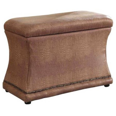 Remarkable 18 Brown Croc Svelte Storage Ottoman Caraccident5 Cool Chair Designs And Ideas Caraccident5Info