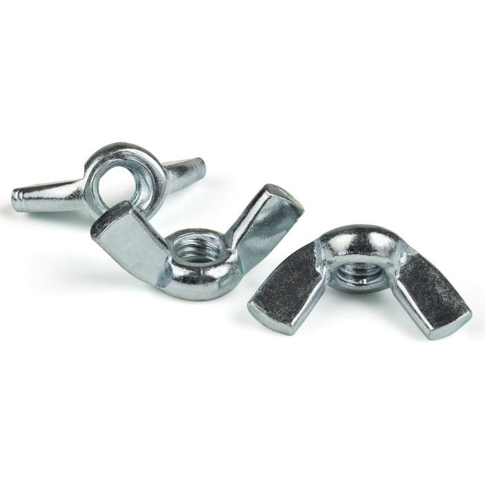 1//4-20 Zinc Plated Forged Wing Nut Pack of 500 Pieces