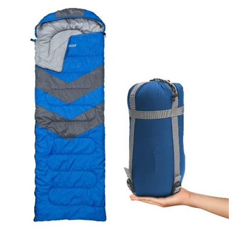 Sleeping Bag – Envelope Lightweight Portable, Waterproof, Comfort With Compression Sack - Great For 4 Season Traveling, Camping, Hiking, Outdoor Activities & Boys. (SINGLE) By Abco