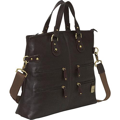 Clava Leather Zip Tote/Shoulder Bag