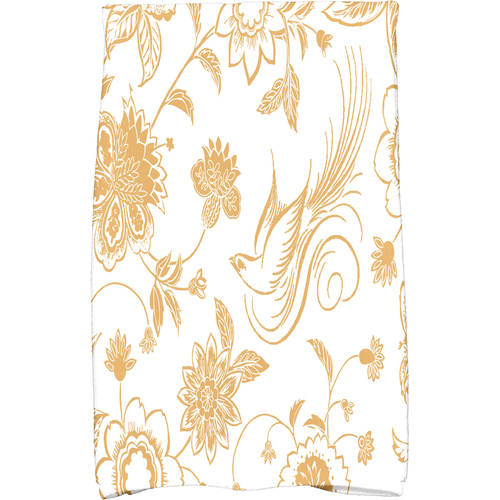 "Simply Daisy 16"" x 25"" Traditional Bird Floral Floral Print Kitchen Towel by E By Design"