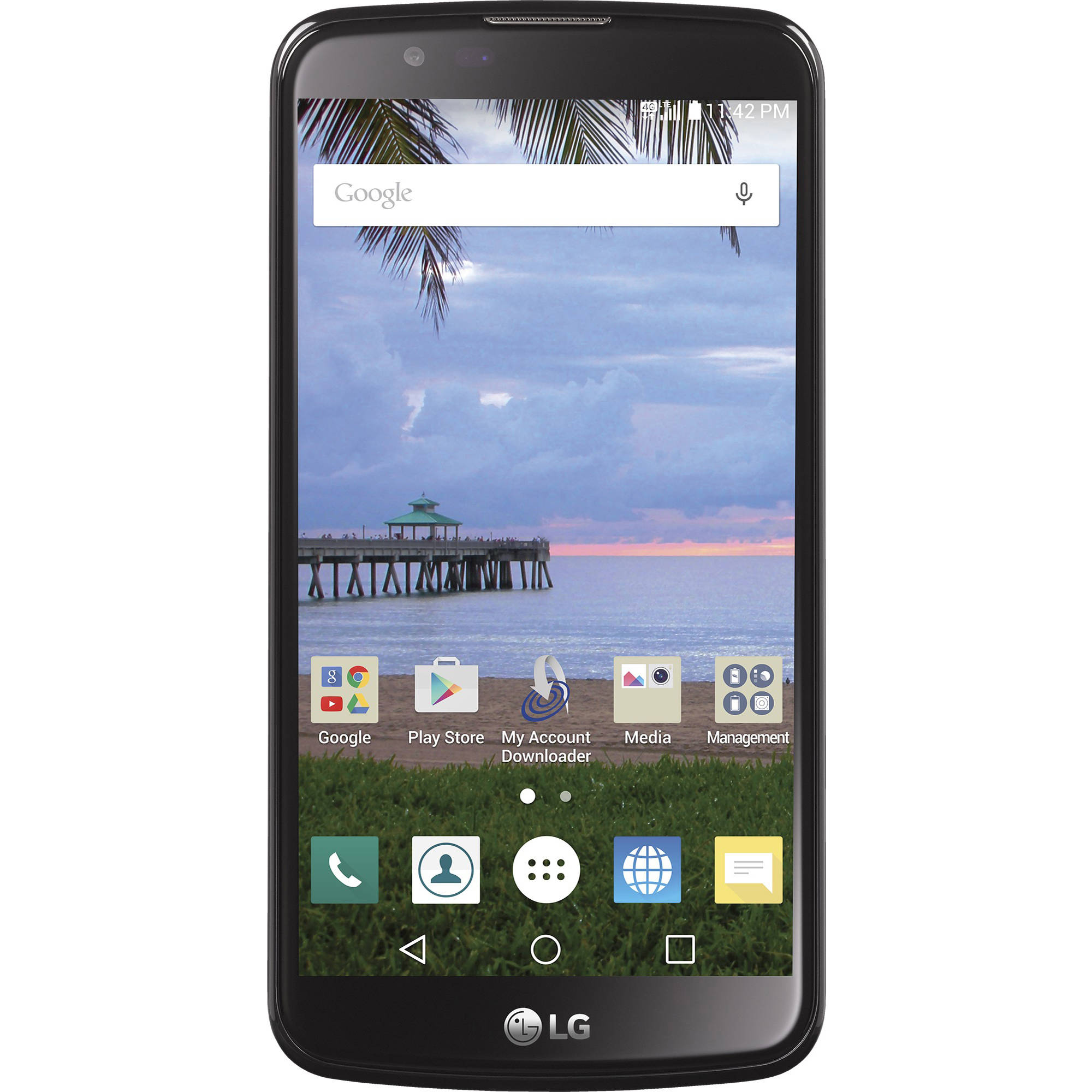 Total Wireless LG Premier 8GB Prepaid Smartphone, Black