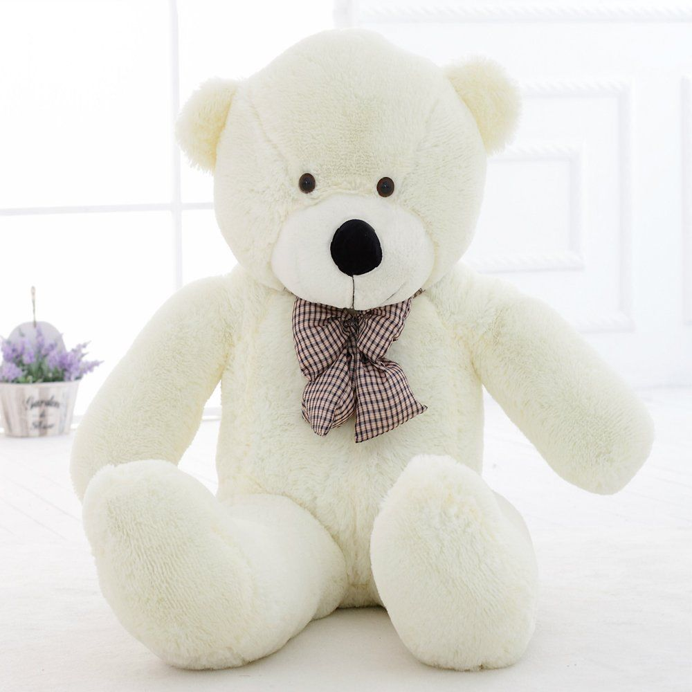"WOWMAX 6.5 Foot White Giant Huge Teddy Bear Cuddly Stuffed Plush Animals Teddy Bear Toy Doll White 79"" by"