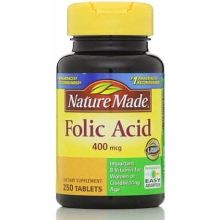 500 Mcg Folic Acid (Nature Made Folic Acid 400 mcg Tablets 250)