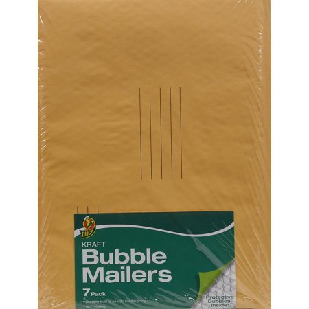 Bubble Lined Recycled Mailers (Duck Kraft Bubble Mailer, #5 (10.5 in. x 15 in.), Self-Sealing,)