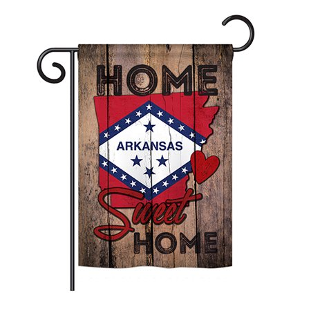 Ornament Collection - State Arkansas Home Sweet Home Americana - Everyday States Impressions Decorative Vertical Garden Flag 13
