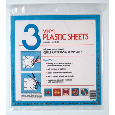 Template Plastic Sheets 12X12In 3 Piece