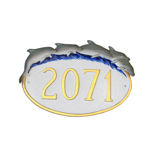Montague Metal Products Inc. Dolphin Address Plaque
