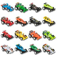 Prextex 16 pack Kids Racing Car Pull Back and Go Vehicles Great Stocking Stuffers and Toys for Boys Best Pull Back Racing Cars for Toddlers
