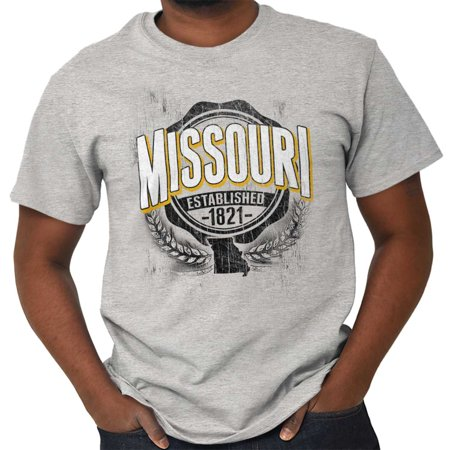 Brisco Brands State of Missouri Game Day MO Short Sleeve Adult T-Shirt