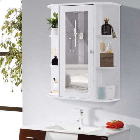 Gymax Bathroom Cabinet Single Door