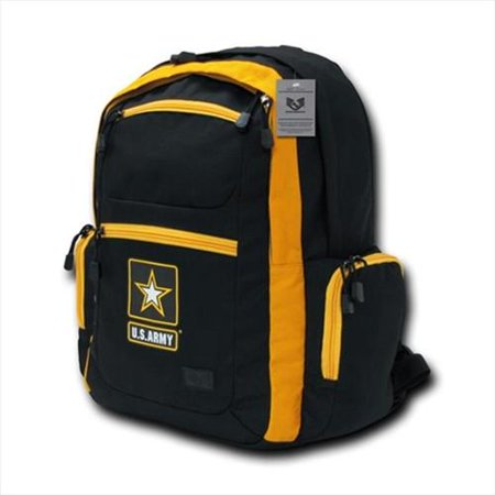 Rapdom U S Army Strong Star Logo Two Tone Backpack Black