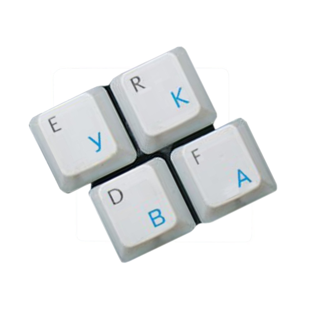 HQRP Russian / Ukrainian Cyrillic Keyboard Blue Stickers On Transparent Background for All PC / Desktops / Laptops / Notebooks / Computers