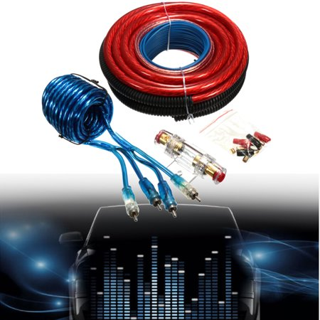 grtsunsea 4 gauge 2800w power wire wring connector car audio complete  amplifier install wiring universal vehicle car auv van - walmart com