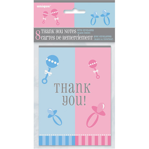 Gender Reveal Thank You Notes, 8pk