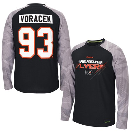 7eee5070dc8 Reebok - Jakub Voracek Philadelphia Flyers Reebok TNT Long Sleeve PlayDry  Name & Number T-Shirt - Black - M - Walmart.com