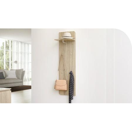 Wall Mounted Rack - Versatile Wall Hanger, Sonoma Oak