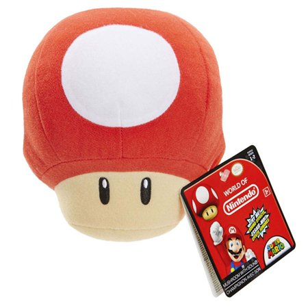 World Of Nintendo Super Mario Mushroom With Sound 8 Inch Plush Figure](Halloween Stuffed Mushrooms)
