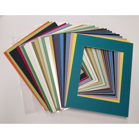 20x24 White Picture Mats with White Core for 16x20 Pictures - Fits 20x24 Frame Frame Purple Lens