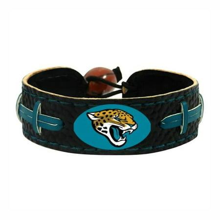 NFL Jacksonville Jaguars Team Color Gamewear Leather Football Bracelet - image 2 of 3