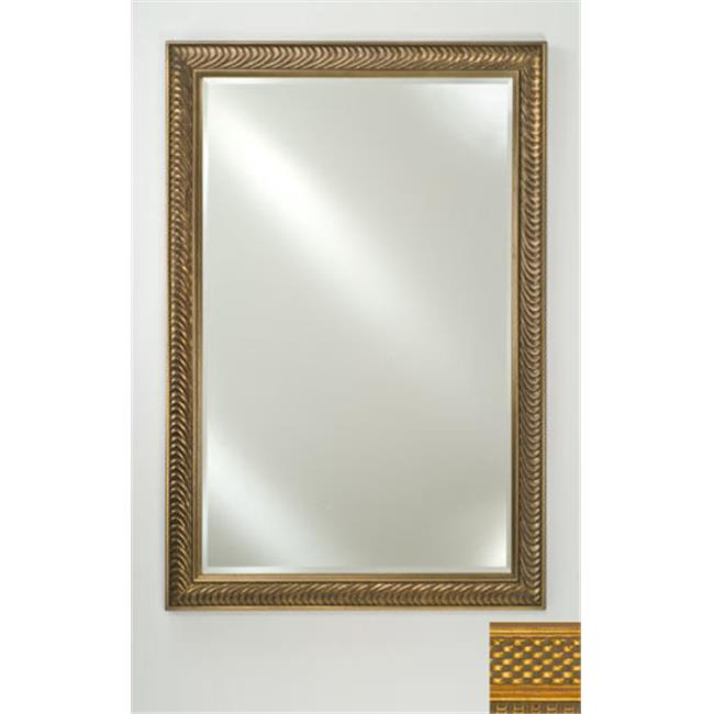 Afina Corporation FM2436ELGGDB 24 in.x 36 in.Signature Beveled Mirror - Elegance Gold