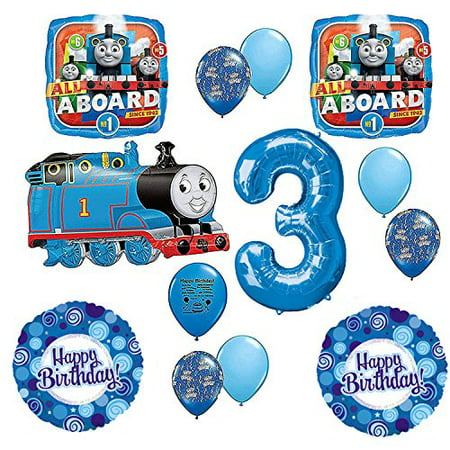 Thomas the Tank Engine Train Party Supplies 3rd Happy Birthday Balloon (Thomas The Tank Engine Birthday Party Supplies)