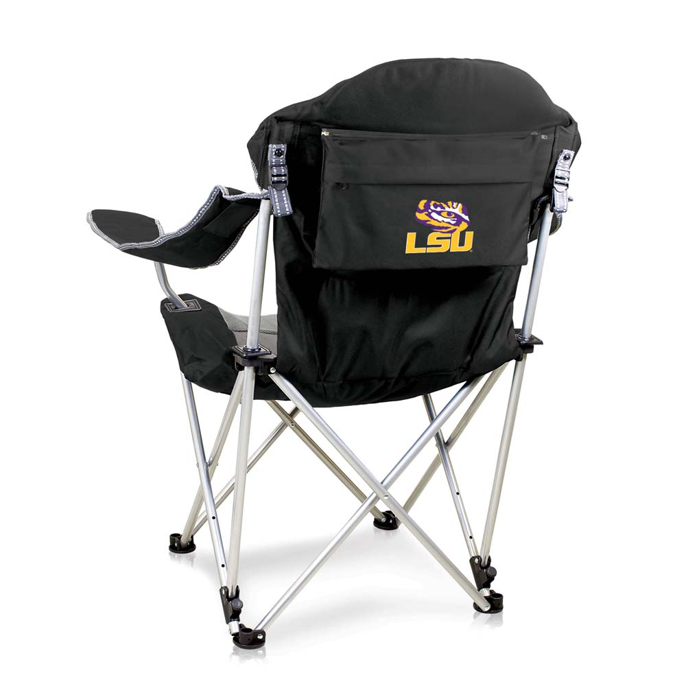 LSU Reclining Camp Chair (Black)